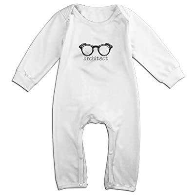 Lingstar Baby Architect Mug Moisture Wicking Long Sleeve Baby Romper Infant White 12 Months