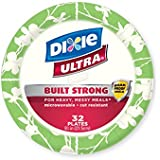 Dixie Ultra Disposable Plates, 8 1/2 Inch, 32 Count (Pack of 4)