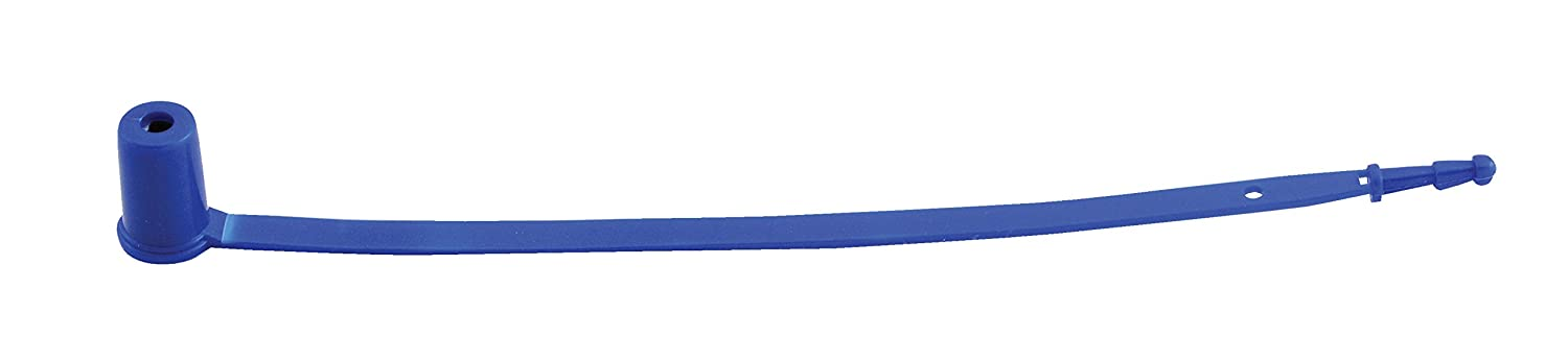 Vestil SECS-F7-BL Polypropylene Security Seal, Sequentially Numbered, Imprinted with 'Sealed', 8-1/8', Blue (Pack of 100) Imprinted with Sealed 8-1/8 Vestil Manufacturing Corp