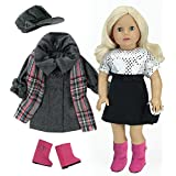 Sophia's 7 Pc Doll Set for 18 Inch Dolls, Winter Coat and Holiday Dress with Accessories