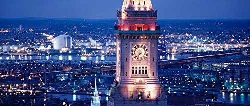 Posterazzi Clock tower of the Custom House Boston Suffolk County Massachusetts USA Poster Print (13 x 30) (Custom House Bostons)