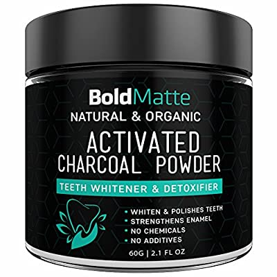 Activated Charcoal Teeth Whitening Powder All Natural and Organic Use with your Toothpaste and Good Bye to Teeth Whitening Kits, Strips, Gel Wow your Tooth and Gum