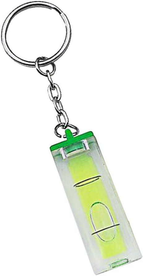 Mini Wasserwaage Schlüsselanhänger Schlüsselanhänger Tool Diy Gadget Grün Baumarkt