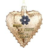Sister Glass Heart Ornament