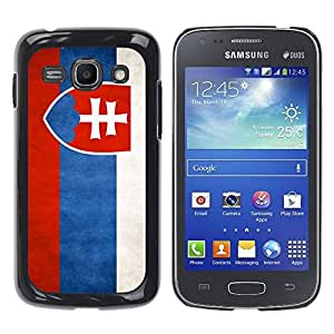 Paccase / SLIM PC / Aliminium Casa Carcasa Funda Case Cover - National Flag Nation Country Slovakia - Samsung Galaxy Ace 3 GT-S7270 GT-S7275 GT-S7272