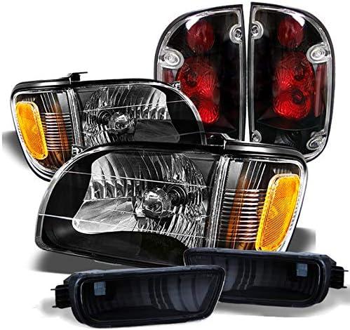 For 2001-2004 Toyota Tacoma Headlights+Corner Signal 6Pcs Blk Lamps+Bumper Light Driver Passenger Side ACANII