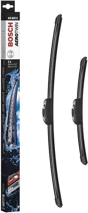 Escobilla limpiaparabrisas Bosch Aerotwin AR605S, Longitud: 600mm/340mm – 1 juego para el parabrisas (frontal): Amazon.es: Coche y moto