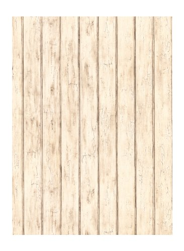York Wallcoverings Best Of Country FK3895 Bead Board Wallpaper, Whitewash