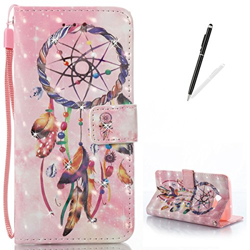 Maya Diamond Necklace (KaseHom Samsung J7 (2017) Leather Case + [Free Black Stylus Pen],Wind Chimes Painted Pattern Shiny Glitter Diamond Flip Magnetic Wallet Holster with [Card Slots] Shockproof Protective Cover)