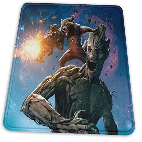 Guardians Galaxy Mouse Pad with Stitched Edge Premium-Textured Mouse Mat Rectangle Non-Slip Rubber Base Oversized Gaming Mousepad,for Laptop Computer & PC 7 X 8.6 in