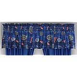 NCAA Florida Gators All Over Valance, 88 x 14, Bright Blue