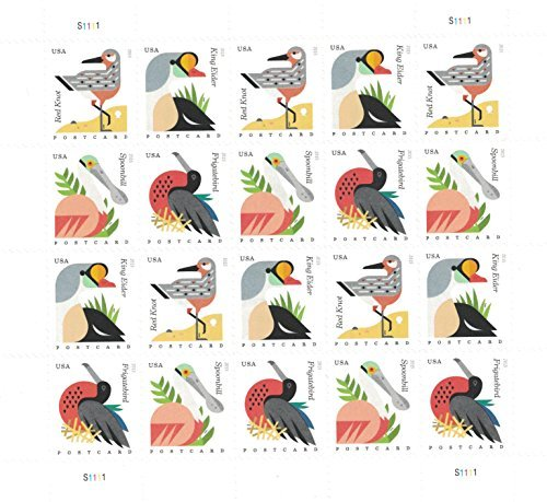 USPS Coastal Birds Postcard Forever stamps (postcard rate)