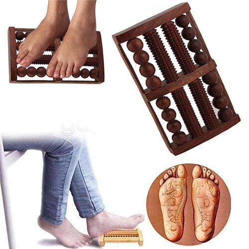 Price comparison product image Khandekar (with device of K) Wooden 8 Rod Foot Roller Massager,  Wood Massage,  Reflexology Pain Relief Massager,  Dual Foot Roller Wooden Relax & Relieve Foot,  Heal Pain,  Foot Reflexology
