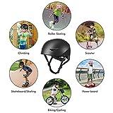WayEee Kids Skateboard Bike Helmet for Ages 5-16yrs - Upgraded Adjustable Bicycle Helmet for Boys Girls Teens, Safety Multi-Sport BMX Scooter Cycling Roller Skate Inline Skating Rollerblading Helmets