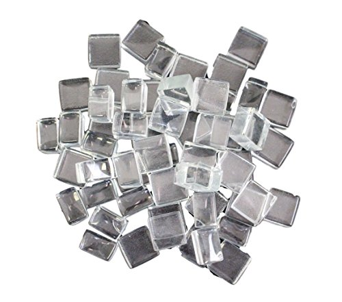 Exotic Fire Glass - Crystal Fire Glass Squares 1/2 Inch - 10lb. Bag