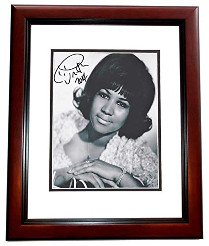 Aretha Franklin Autographed - Hand Signed Legendary R+B Singer 8x10 Photo MAHOGANY CUSTOM Frame - Guaranteed to pass PSA or JSA - Queen of Soul from Real Deal Memorabilia