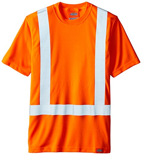 Dickies Men's 6.25 Ounce Class 2 High Visibility Tee, Orange, Small