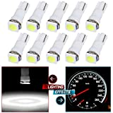 CCIYU 10 Pack Xenon White Car T5 5050 1SMD Wedge LED Light Bulbs 74 17 18 37 70 73 2721 For side markers, running lights, corner & bumper lights, license plate lights, instrument cluster