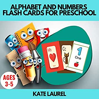 Alphabet and Numbers Flash Cards for Preschool: Alphabet Flash ...
