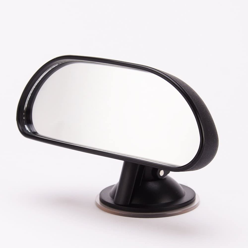 Wide Convex Shatterproof Glass Baby Car Mirror Suction Cup on Windshield//Clip on Car Sun Visor Rear View Baby Car Back Seat Mirror