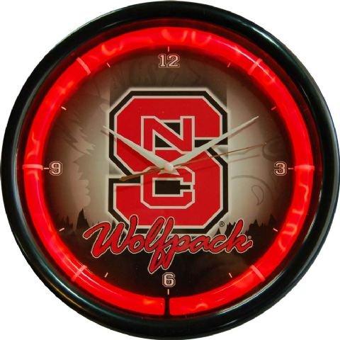 State Clock Plasma (NCAA College Team Plasma Clock (North Carolina State))