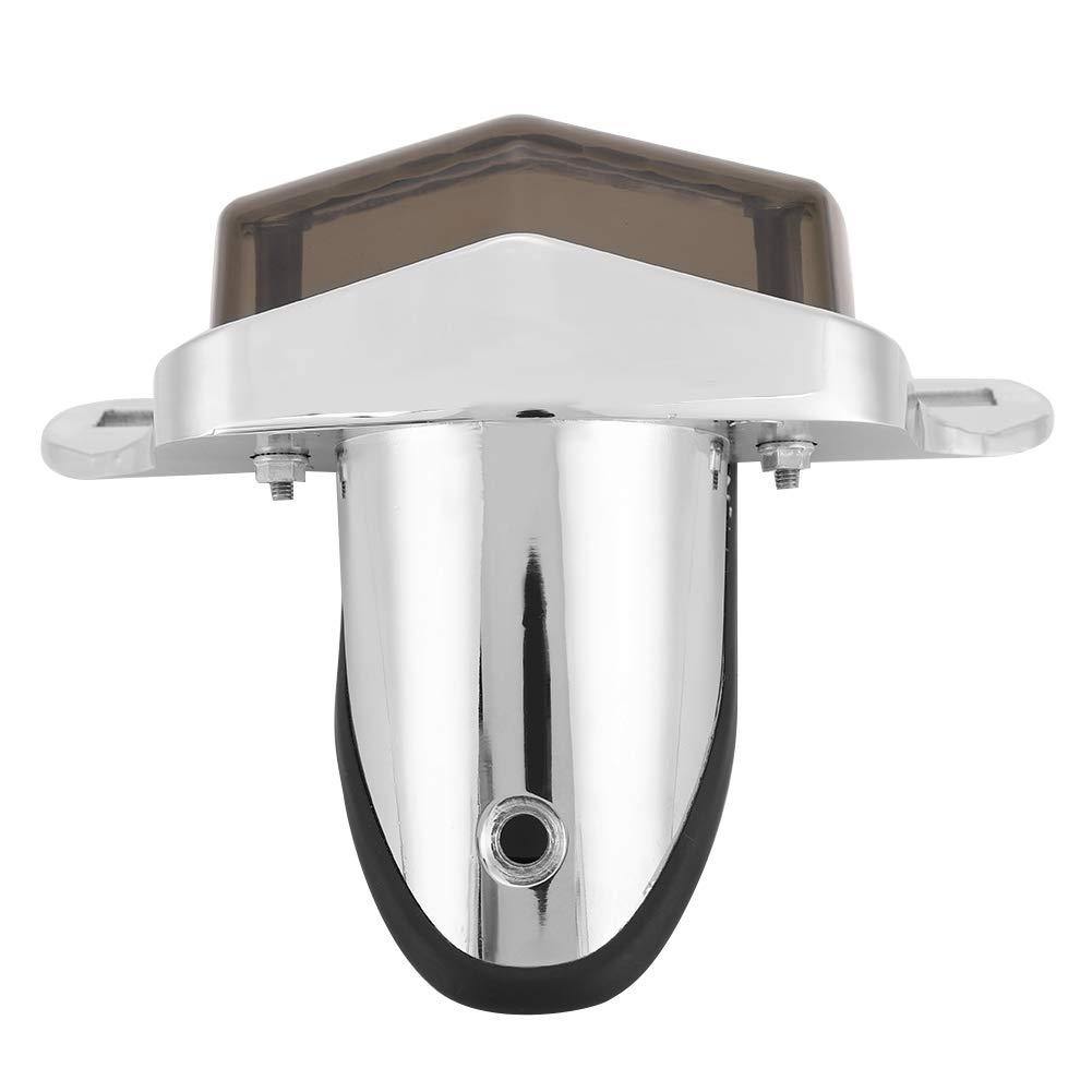 Duokon Motorcycle Plating Vintage LED Luz de matr/ícula de freno con soporte Aleaci/ón de aluminio ahumado