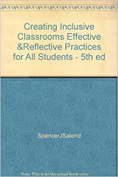 Book Creating Inclusive Classrooms Effective &Reflective Practices for All Students - 5th ed