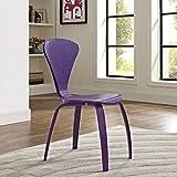 LexMod Vortex Dining Side Chair, Purple