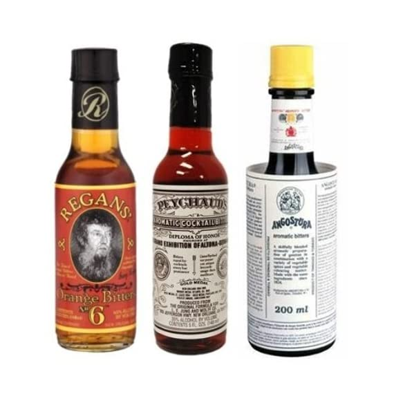"Bitters ""Triple Play"" Variety 3-Pack: Angostura, Peychauds and Regans 1 Great Variety Pack ""Must Have"" for any cocktail geek Angostura (4 oz)"