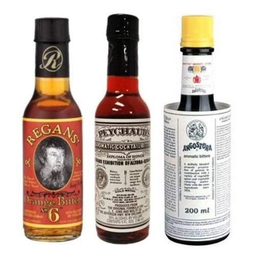"Bitters ""Triple Play"" Variety 3-Pack: Angostura, Peychauds and Regans"