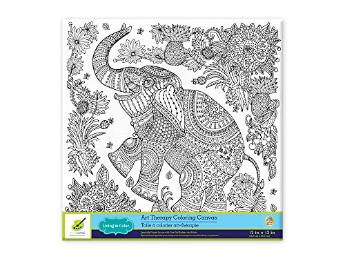 Amazon living in color art therapy stretch artist canvas primed amazon living in color art therapy stretch artist canvas primed 12in x 12in color your own beautiful design on canvas elephant solutioingenieria Gallery