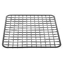 InterDesign Gia Kitchen Sink Protector Grid Mat- Regular, Matte Black