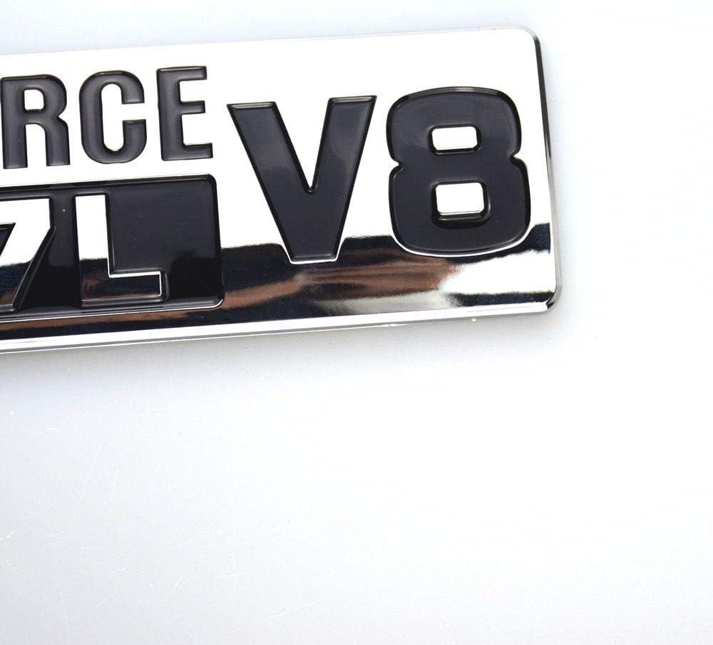 2x OEM Chrome Black 5.7L V8 Badge Side Emblem 3D logo Replacement for TUNDRA Toyato TRD PRO IFORCE Sanucaraofo