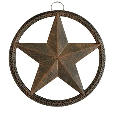 Old Dutch Round Star Trivet, 8-Inch, Antique Copper