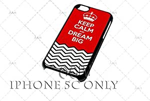 Keep Calm and dream Big iPhone 5C case / zigzag iPhone 5C Case - 4G AArt #TM01 -AT&T, Verizon & Worldwide Providers...