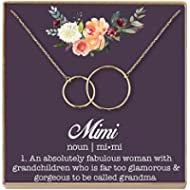 [Sponsored]Dear Ava Mimi Gift Necklace: Grandma Mimi, Best Mimi Ever, Mimi Jewelry, 2...