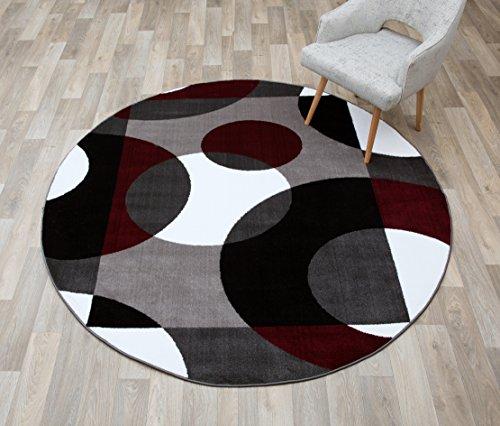 Rugshop Modern Circles Round Area Rug, 6' 6
