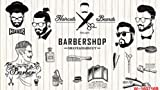 300cmX250cm 3D beauty barber mural salon barber shop fashion clothing shop supermarket backdrop Haircut poster wallpaper mural,Yellow