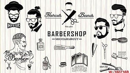 300cmx250cm 3d beauty barber mural salon barber shop fashion