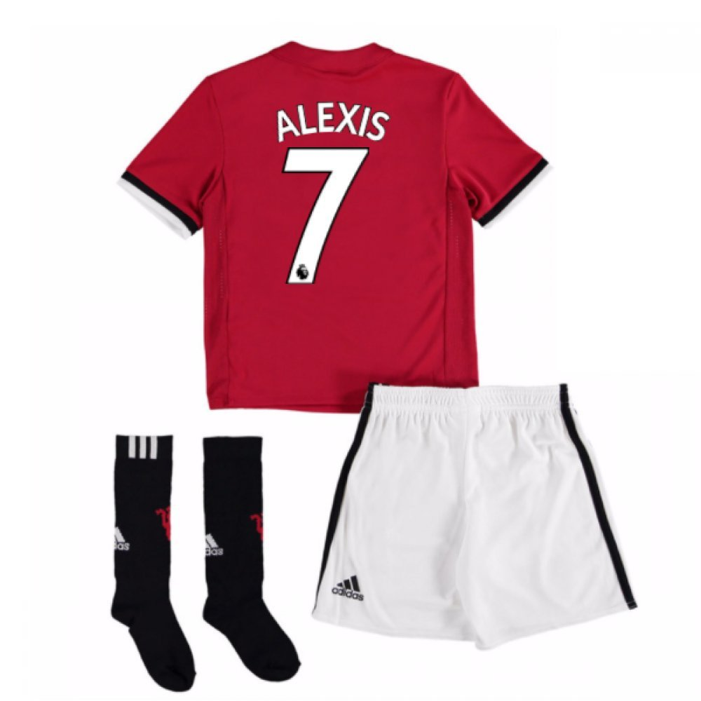 UKSoccershop 20Alexis Sanchez 77-Alexis Sanchez 78 Man United Home Mini Kit (Alexis Sanchez 7)