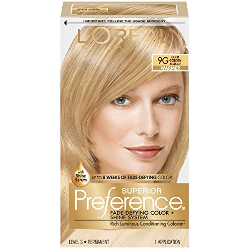 Lor Al Paris Superior Preference Permanent Hair Color  9G Light Golden Blonde