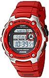 Casio WV-200A-4AVCF Reloj Digital, para Hombre, Ovalado, color Negro y Rojo