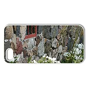 Old House on Tun - Case Cover for iPhone 5 and 5S (Houses Series, Watercolor style, White)