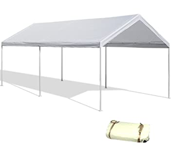 20u0027X20u0027 White Canopy Replacement Cover Top Roof Tarp Shade Car Motorcycle Boat Jetski  sc 1 st  Amazon.com & Amazon.com : 20u0027X20u0027 White Canopy Replacement Cover Top Roof Tarp ...