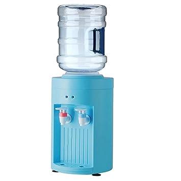 Dispensador de agua para mesa – dispensador de agua fría y caliente, botón superior de