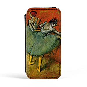 Ballerian Girl 6 by Edgar Degas Premium Faux PU Leather Case, Protective Hard Cover Flip Case for Apple? iPhone 5 / 5s by Painting Masterpieces + FREE Crystal Clear Screen Protector