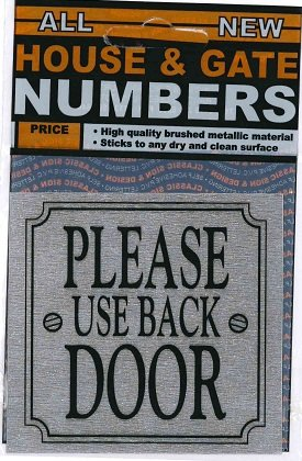Classic Sign Design House Or Gate Number Sticker Please Use Back
