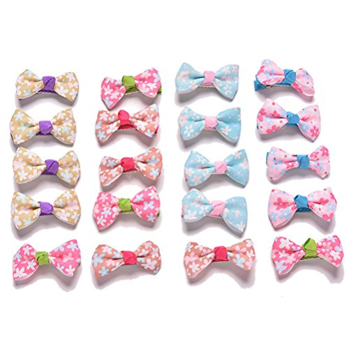 S Accessories 20 Hair for Hair Party Dress Gy Pcs Bow Hairpin Clips Girls Kids AAqwR7g