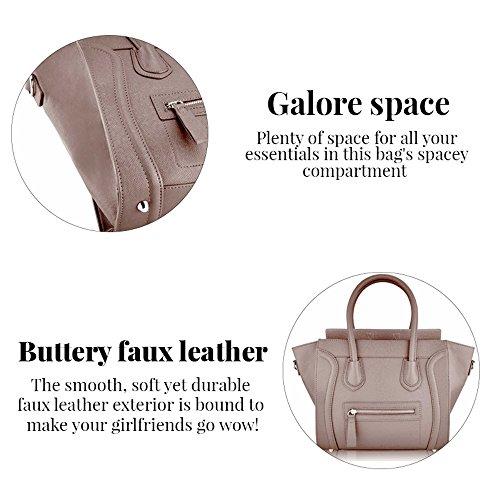 TrendStar - Bolso al hombro para mujer Z-Nude Smile Tote Bag