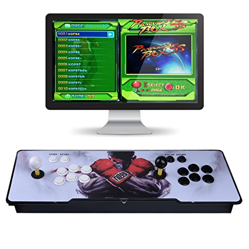 Video Game Console, Arcade Machine 1299 Classic Games, 2 Players Pandora's box 5S multiplayer home Arcade Console 1299 Games All in 1 NON-JAMMA PCB Double Stick Newest Design Buttons Power HDMI ()
